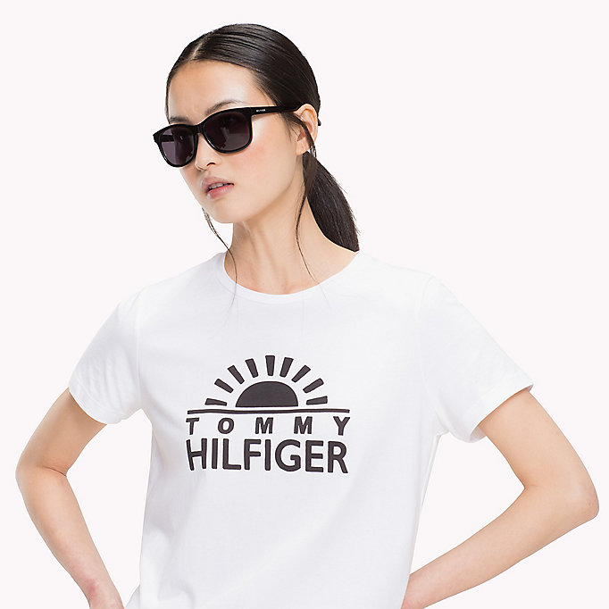 TOMMY HILFIGER Script Logo T-Shirt - SILVER PEONY - TOMMY HILFIGER Women - detail image 2