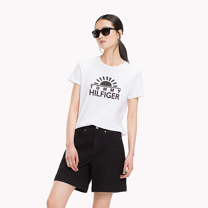 TOMMY HILFIGER Script Logo T-Shirt - SILVER PEONY - TOMMY HILFIGER Women - main image