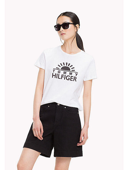 TOMMY HILFIGER T-shirt con logo - CLASSIC WHITE - TOMMY HILFIGER T-Shirt - immagine principale