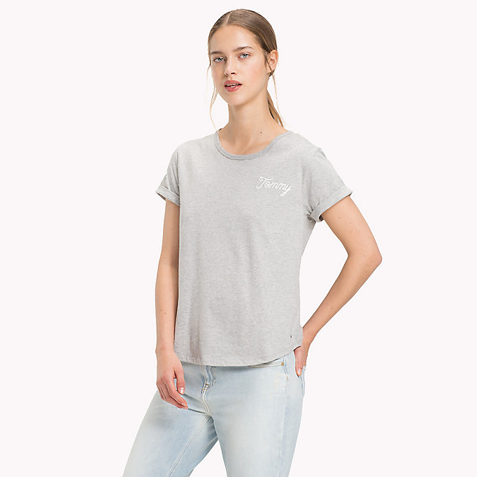 TOMMY HILFIGER Script Logo Comfort Fit T-Shirt - CLASSIC WHITE - TOMMY HILFIGER Women - main image