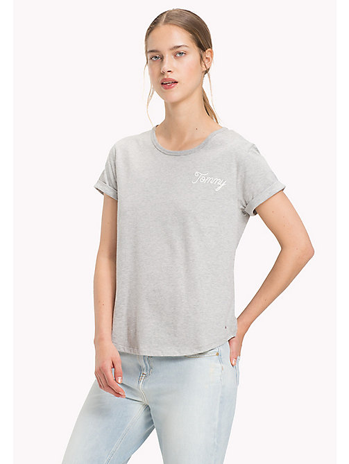 TOMMY HILFIGER Logo Comfort Fit T-Shirt - LIGHT GREY HTR - TOMMY HILFIGER T-Shirts - main image