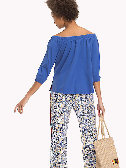 TOMMY HILFIGER Cotton Off-The-Shoulder Top - BRIGHT COBALT - TOMMY HILFIGER Vacation Style - detail image 1