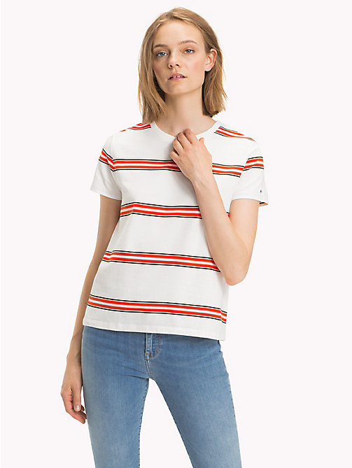 TOMMY HILFIGER T-shirt righe all over - YARN DYED STP / FIESTA - TOMMY HILFIGER Donna - immagine principale