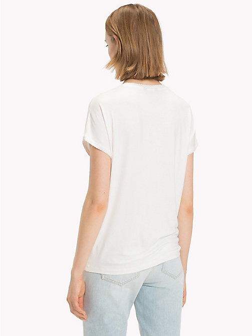 TOMMY HILFIGER T-Shirt mit Bogenkantensaum - SNOW WHITE - TOMMY HILFIGER NEW IN - main image 1
