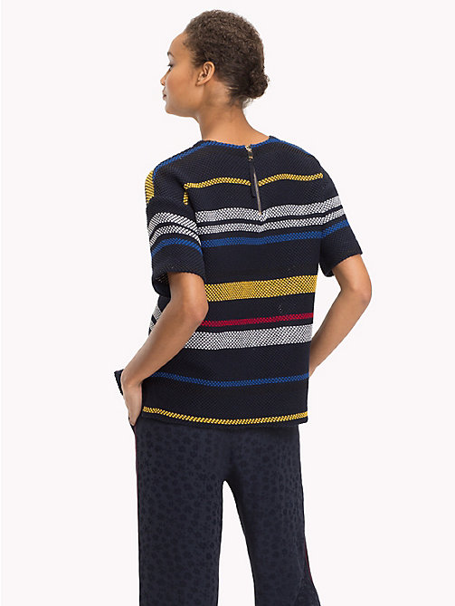 TOMMY HILFIGER Gestreiftes Top aus Grenadinestoff - ETHNIC STP / SKY CAPTAIN -  NEW IN - main image 1
