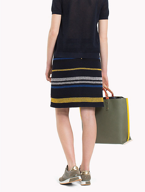 TOMMY HILFIGER Mixed Stripe Grenadine Skirt - ETHNIC STP / SKY CAPTAIN - TOMMY HILFIGER Skirts - detail image 1