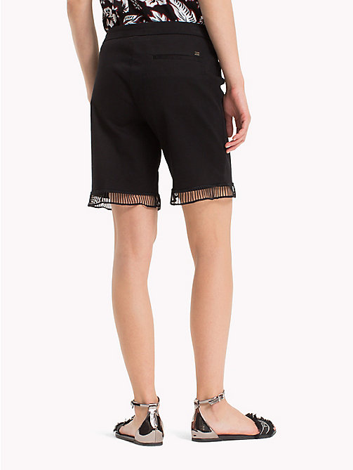 TOMMY HILFIGER Ladder Detail Shorts - BLACK BEAUTY - TOMMY HILFIGER Shorts - detail image 1