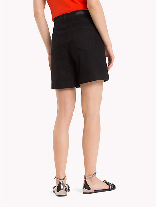 TOMMY HILFIGER Stretch Cotton Bermuda Shorts - BLACK BEAUTY - TOMMY HILFIGER Shorts - detail image 1