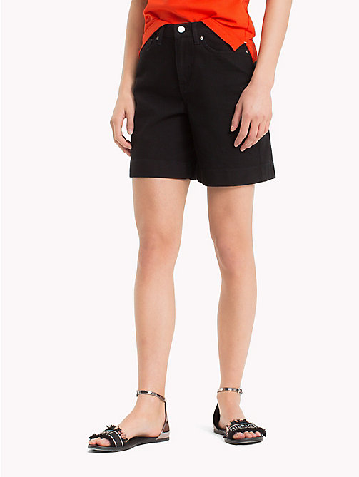 TOMMY HILFIGER Stretch Cotton Bermuda Shorts - BLACK BEAUTY - TOMMY HILFIGER Shorts - main image