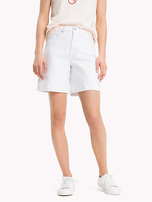 TOMMY HILFIGER Stretch Cotton Bermuda Shorts - CLASSIC WHITE - TOMMY HILFIGER Shorts - main image