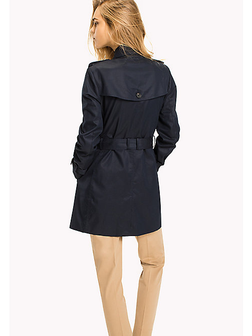 TOMMY HILFIGER Single-breasted trenchcoat - MIDNIGHT - TOMMY HILFIGER Jassen - detail image 1