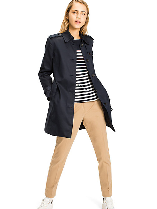TOMMY HILFIGER Heritage Single-Breasted Trench Coat - MIDNIGHT - TOMMY HILFIGER Basics - detail image 1