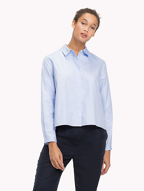 TOMMY HILFIGER Relaxed Fit Cotton Shirt - SHIRT BLUE - TOMMY HILFIGER NEW IN - main image