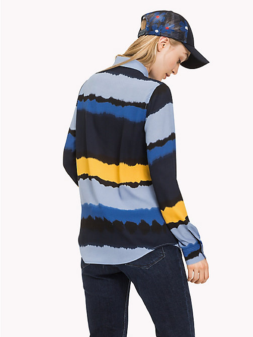 TOMMY HILFIGER Tie Dye Stripe Crepe Shirt - TIE DYE STP / SKY CAPTAIN - TOMMY HILFIGER NEW IN - detail image 1