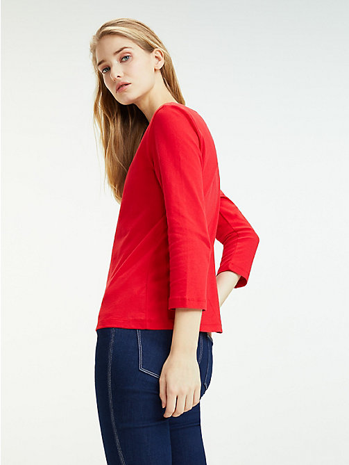 TOMMY HILFIGER Regular Fit Top mit U-Boot-Ausschnitt - TRUE RED - TOMMY HILFIGER T-Shirts - main image 1