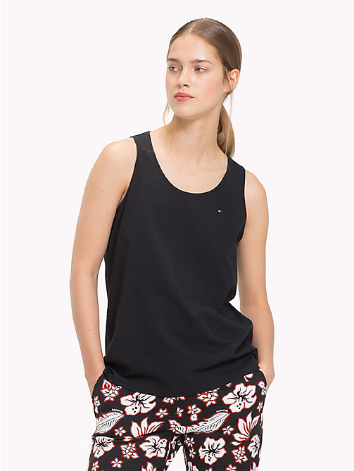 TOMMY HILFIGER Round Neck Tank Top - BLACK BEAUTY - TOMMY HILFIGER Tops - main image