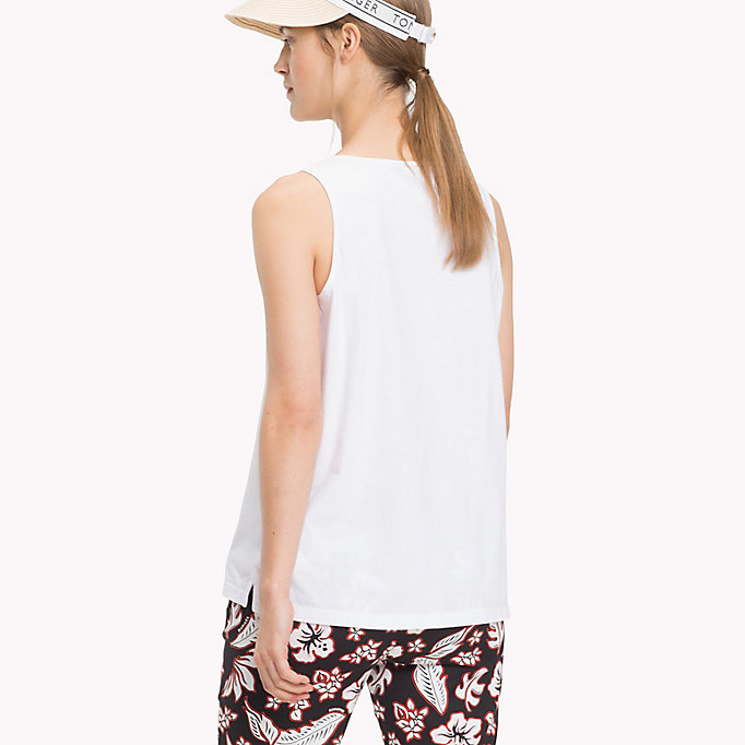 TOMMY HILFIGER Round Neck Tank Top - SILVER PEONY - TOMMY HILFIGER Women - detail image 1
