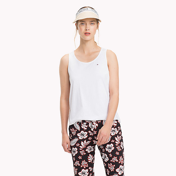 TOMMY HILFIGER Round Neck Tank Top - SILVER PEONY - TOMMY HILFIGER Women - main image
