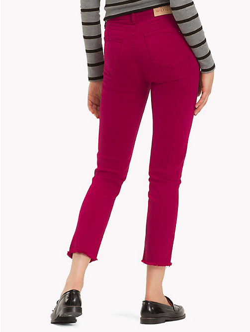 TOMMY HILFIGER High Waist Slim Fit Jeans - CERISE - TOMMY HILFIGER Sale Women - detail image 1