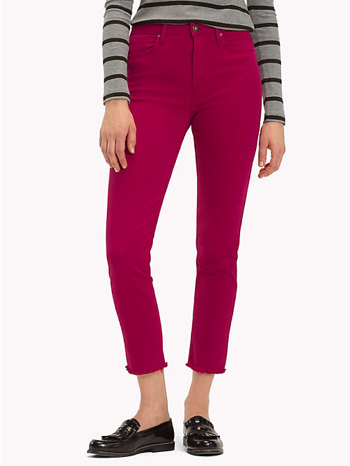 TOMMY HILFIGER High Waist Slim Fit Jeans - CERISE - TOMMY HILFIGER Black Friday Women - main image