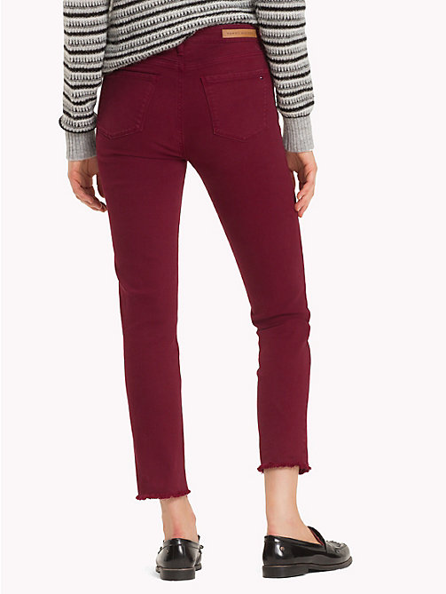 TOMMY HILFIGER High Waist Slim Fit Jeans - CABERNET - TOMMY HILFIGER Sale Women - detail image 1