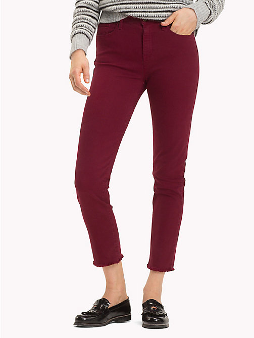 TOMMY HILFIGER High Waist Slim Fit Jeans - CABERNET - TOMMY HILFIGER NEW IN - main image