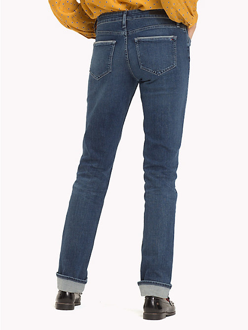 TOMMY HILFIGER Straight Fit Stretch Organic Jeans - CANDID - TOMMY HILFIGER Jeans - detail image 1