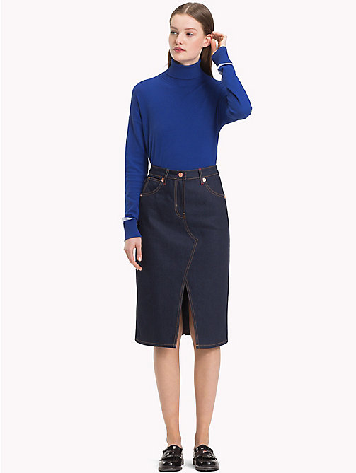 TOMMY HILFIGER Rigid Denim Pencil Skirt - TALEEN - TOMMY HILFIGER Skirts - main image