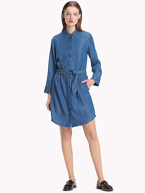 TOMMY HILFIGER Tie Belt Denim Dress - PATTY - TOMMY HILFIGER Sustainable Evolution - main image