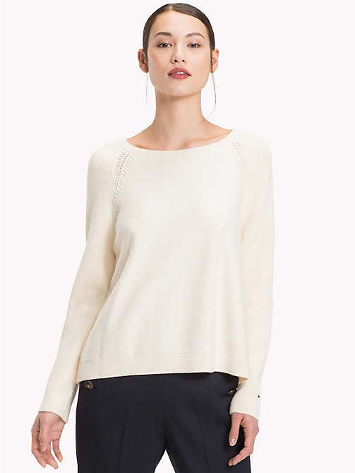 TOMMY HILFIGER Raglan Jumper - SNOW WHITE - TOMMY HILFIGER Jumpers - main image