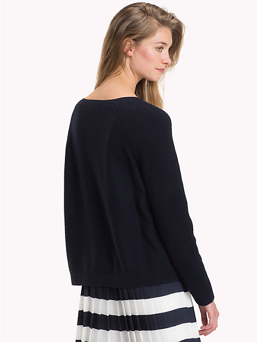 TOMMY HILFIGER Raglan Jumper - MIDNIGHT - TOMMY HILFIGER Jumpers - detail image 1
