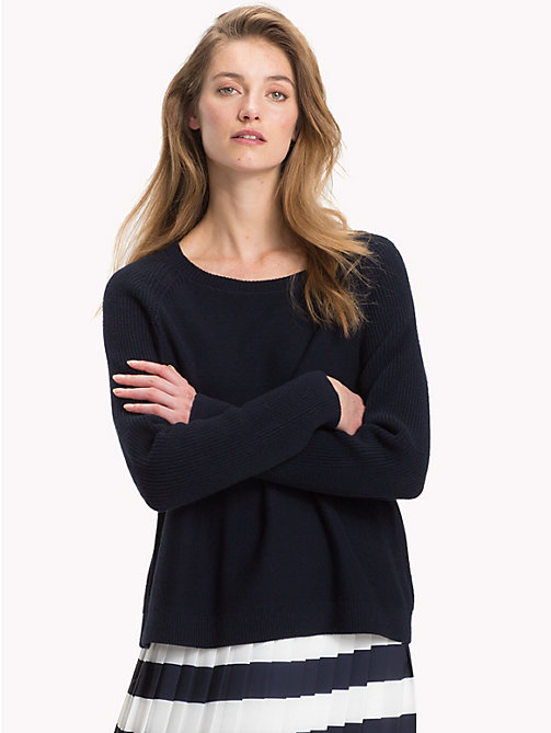 TOMMY HILFIGER Raglan Jumper - MIDNIGHT - TOMMY HILFIGER Jumpers - main image