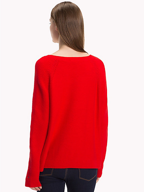 TOMMY HILFIGER Raglanowy sweter - FLAME SCARLET -  Swetry - detail image 1