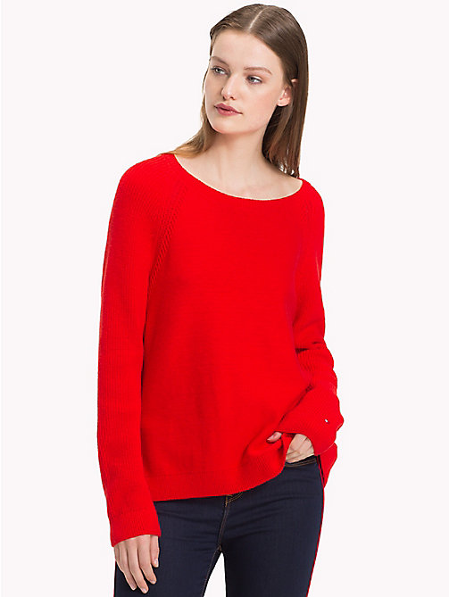 TOMMY HILFIGER Raglanowy sweter - FLAME SCARLET -  Swetry - main image