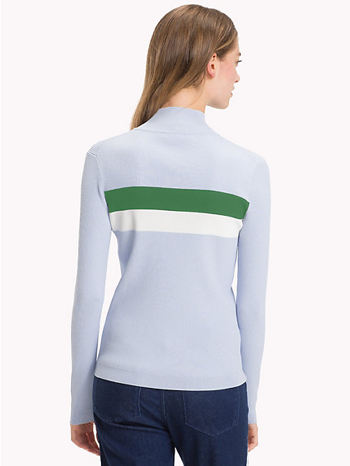 TOMMY HILFIGER Mock Neck Rib-Knit Jumper - HEATHER - TOMMY HILFIGER NEW IN - detail image 1
