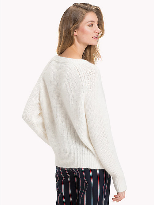 TOMMY HILFIGER Cable Knit Jumper - SNOW WHITE - TOMMY HILFIGER Jumpers - detail image 1