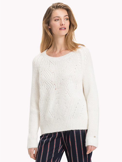 TOMMY HILFIGER Cable Knit Jumper - SNOW WHITE - TOMMY HILFIGER NEW IN - main image
