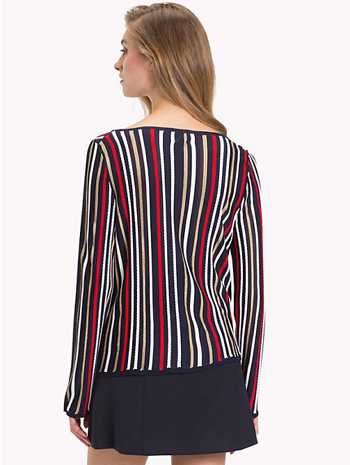 TOMMY HILFIGER Metallic Boat Neck Jumper - SKY CAPTAIN/MULTI - TOMMY HILFIGER Jumpers - detail image 1