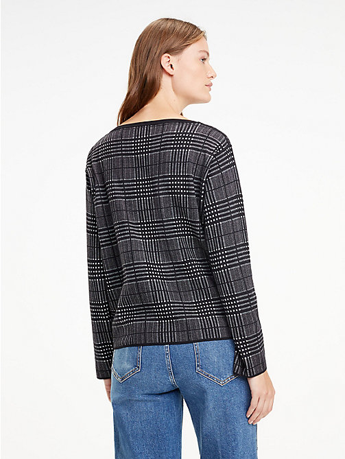 TOMMY HILFIGER Reversible Boat Neck Jumper - BLACK BEAUTY / LIGHT GREY HTR - TOMMY HILFIGER Trending - detail image 1
