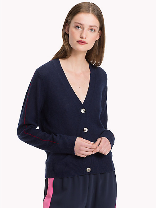 TOMMY HILFIGER Cashmere Cardigan - MIDNIGHT - TOMMY HILFIGER NEW IN - main image