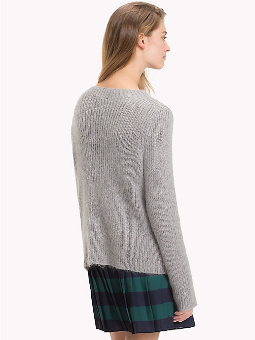 TOMMY HILFIGER Vivica Mock Neck Jumper - LIGHT GREY HTR - TOMMY HILFIGER Jumpers - detail image 1