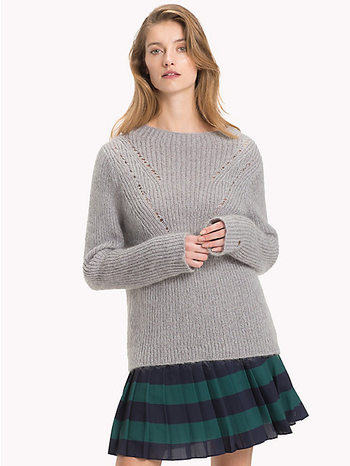 TOMMY HILFIGER Vivica Mock Neck Jumper - LIGHT GREY HTR - TOMMY HILFIGER Jumpers - main image