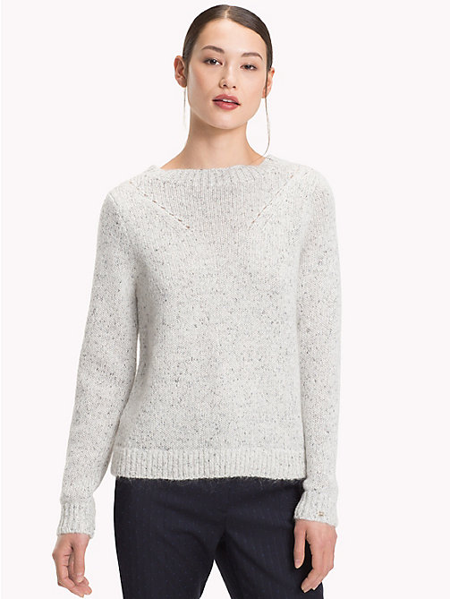 TOMMY HILFIGER Vivica Mock Neck Jumper - SNOW WHITE - TOMMY HILFIGER Jumpers - main image