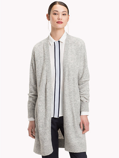 TOMMY HILFIGER Vallis Open Cardigan - LIGHT GREY HTR - TOMMY HILFIGER Black Friday Women - main image