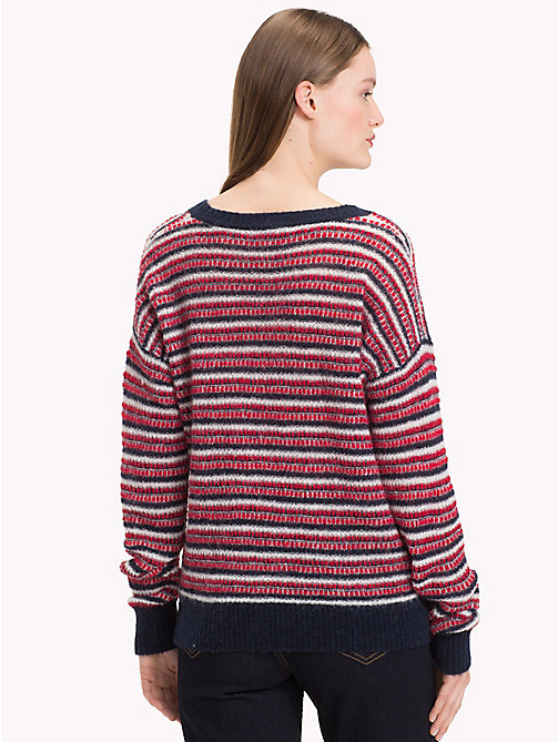 TOMMY HILFIGER Vachel Round Neck Jumper - SKY CAPTAIN / TRUE RED / SNOW WHITE - TOMMY HILFIGER Jumpers - detail image 1