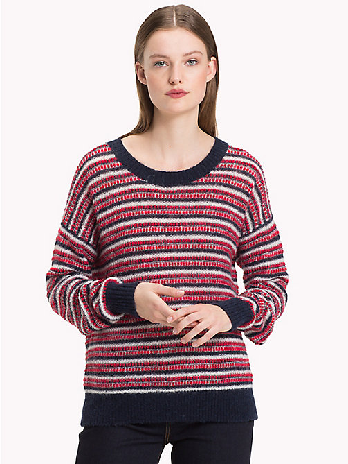 TOMMY HILFIGER Vachel Round Neck Jumper - SKY CAPTAIN / TRUE RED / SNOW WHITE - TOMMY HILFIGER Jumpers - main image