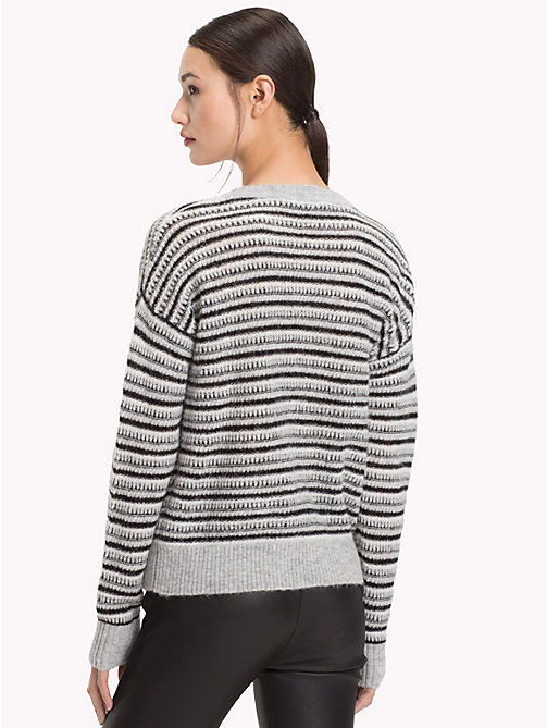TOMMY HILFIGER Vachel Round Neck Jumper - LIGHT GREY HTR/MULTI - TOMMY HILFIGER Jumpers - detail image 1