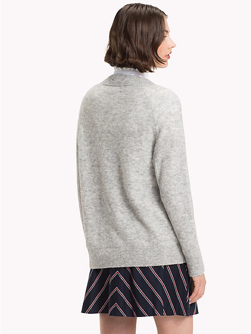 TOMMY HILFIGER Alpaca Wool Blend Jumper - LIGHT GREY HTR - TOMMY HILFIGER Jumpers - detail image 1