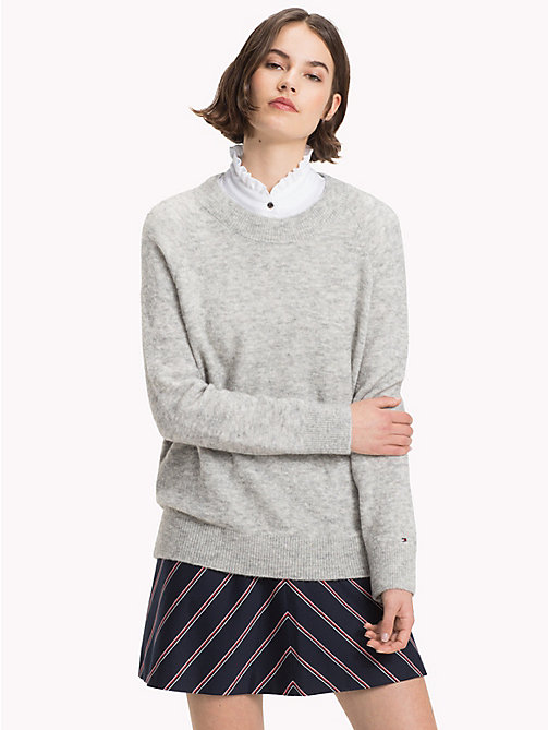 TOMMY HILFIGER Alpaca Wool Blend Jumper - LIGHT GREY HTR - TOMMY HILFIGER Jumpers - main image