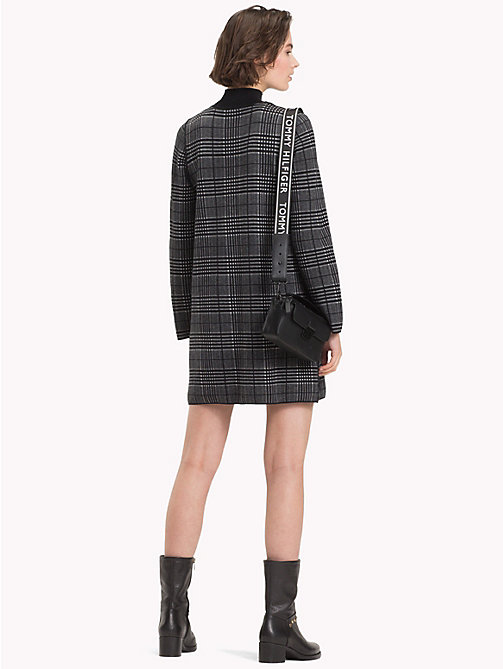 TOMMY HILFIGER Reversible Mock Neck Dress - BLACK BEAUTY / LIGHT GREY HTR - TOMMY HILFIGER Dresses & Skirts - detail image 1